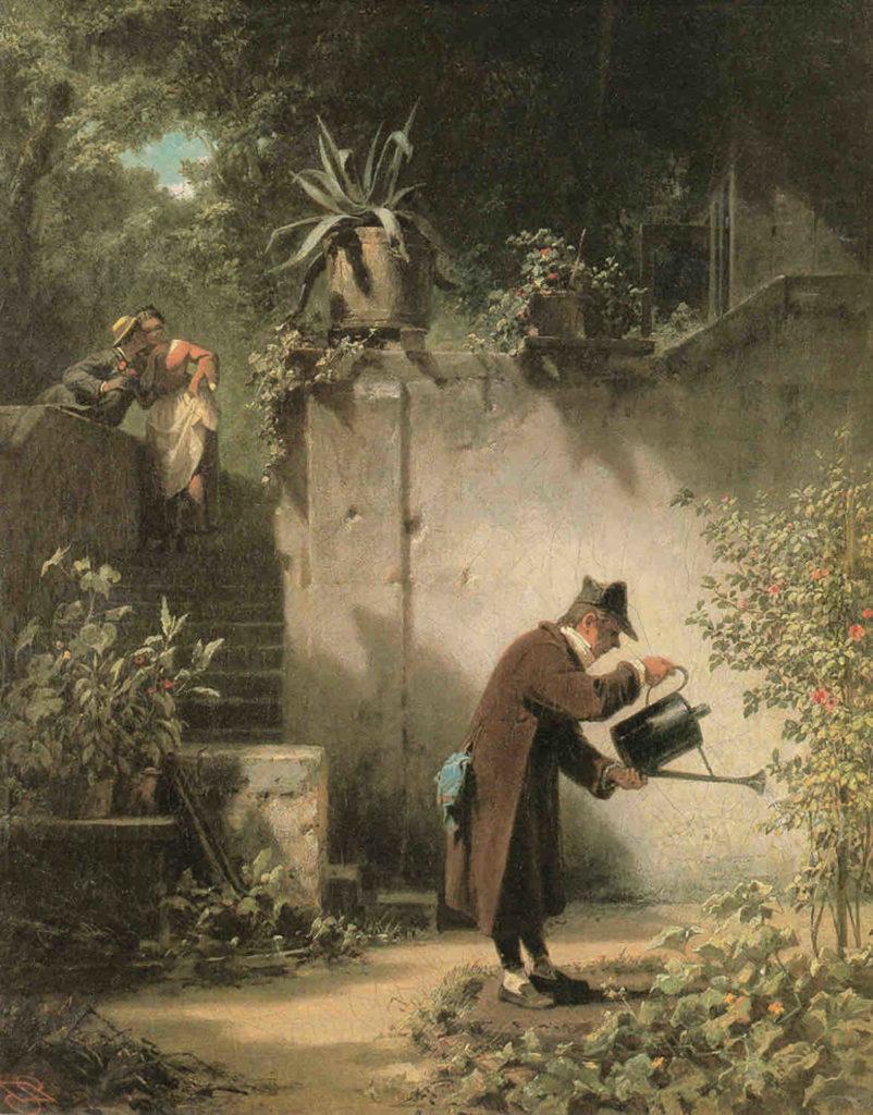 """Gemälde """"Der Blumenfreund"""" von Carl Spitzweg"""
