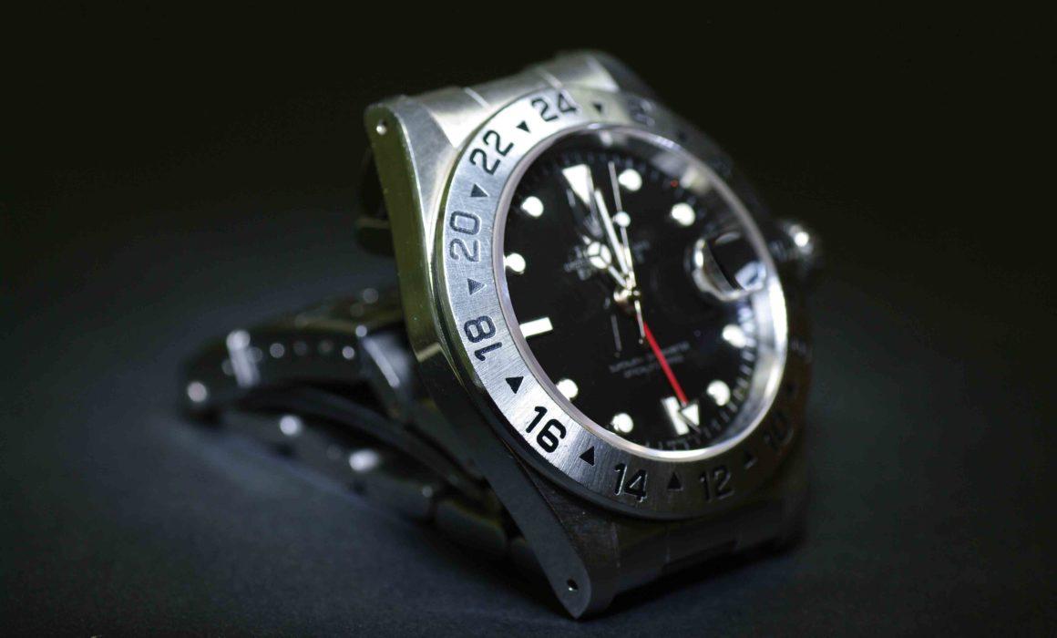 Liegende Armbanduhr von Rolex