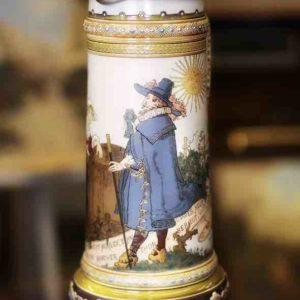 Bemalter Schenkkrug von Villeroy & Boch (Mettlach)
