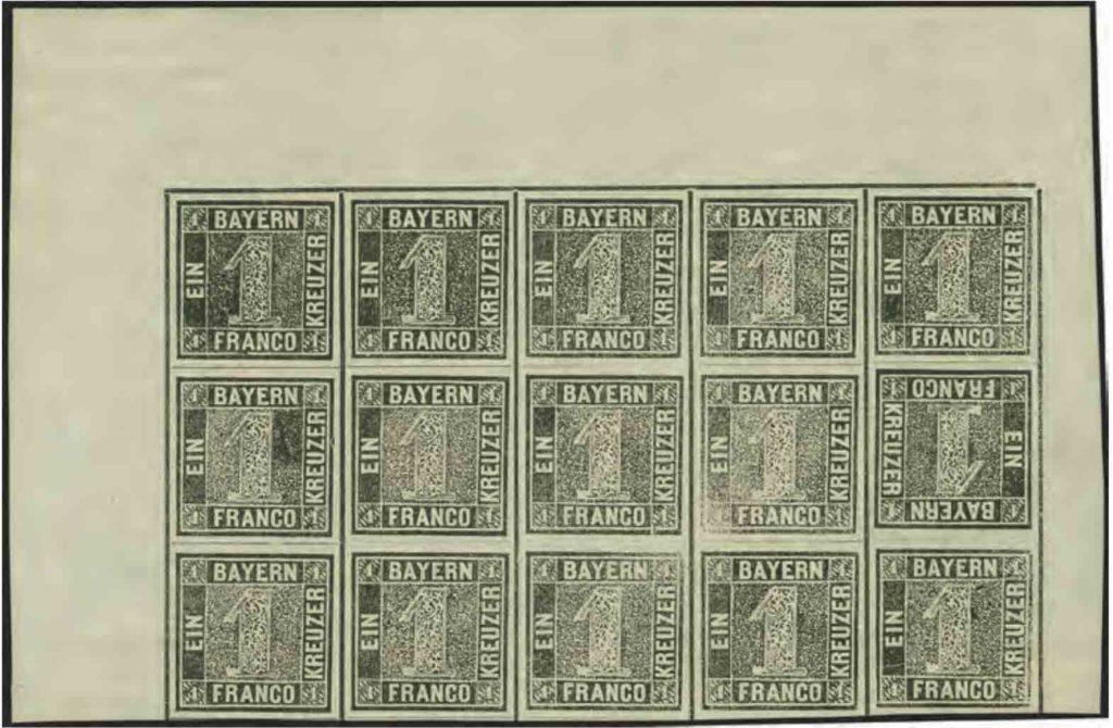 Briefmarkenbogen des Schwarzen Einsers