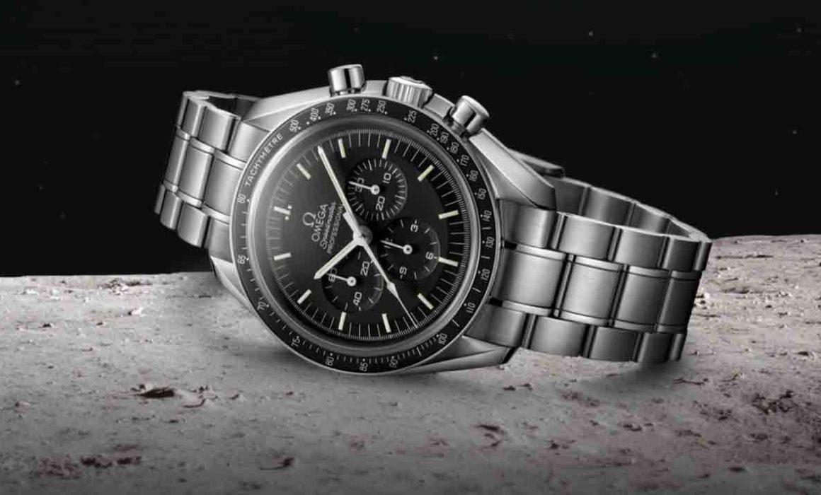 Liegende Armbanduhr Speedmaster Professional von Omega