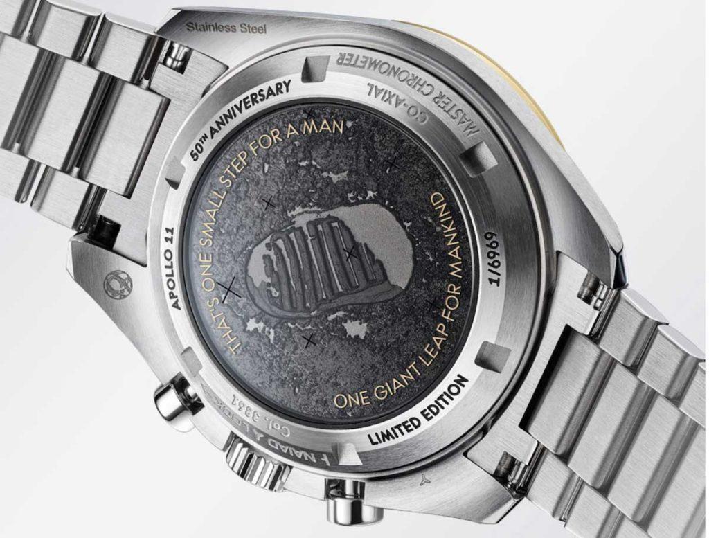 Rückseite der Moonwatch Armbanduhr von Omega