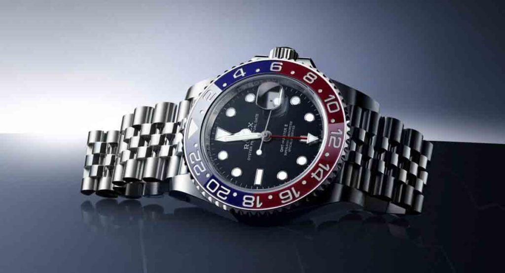 Liegende Rolex GMT Master Armbanduhr