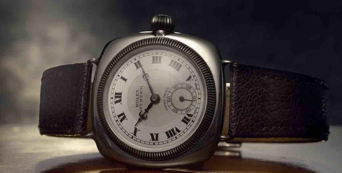 Alte Automatik-Armbanduhr von Rolex