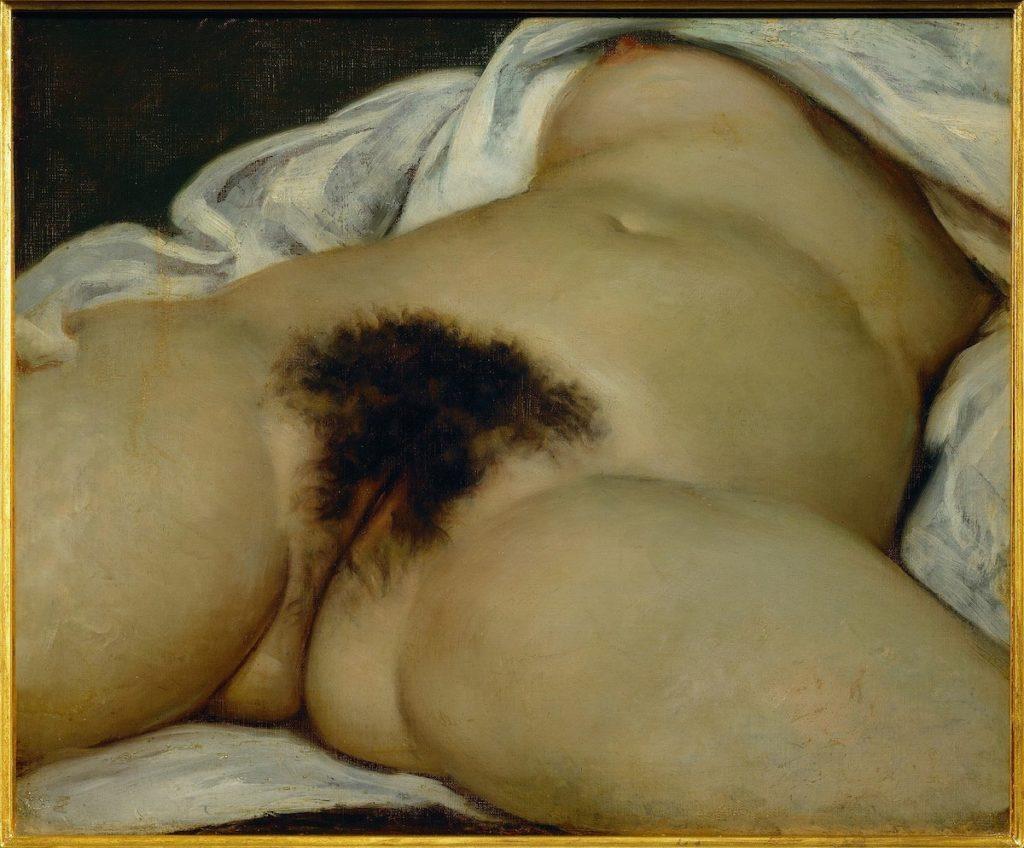 Gemälde mit weiblichem Unterleib