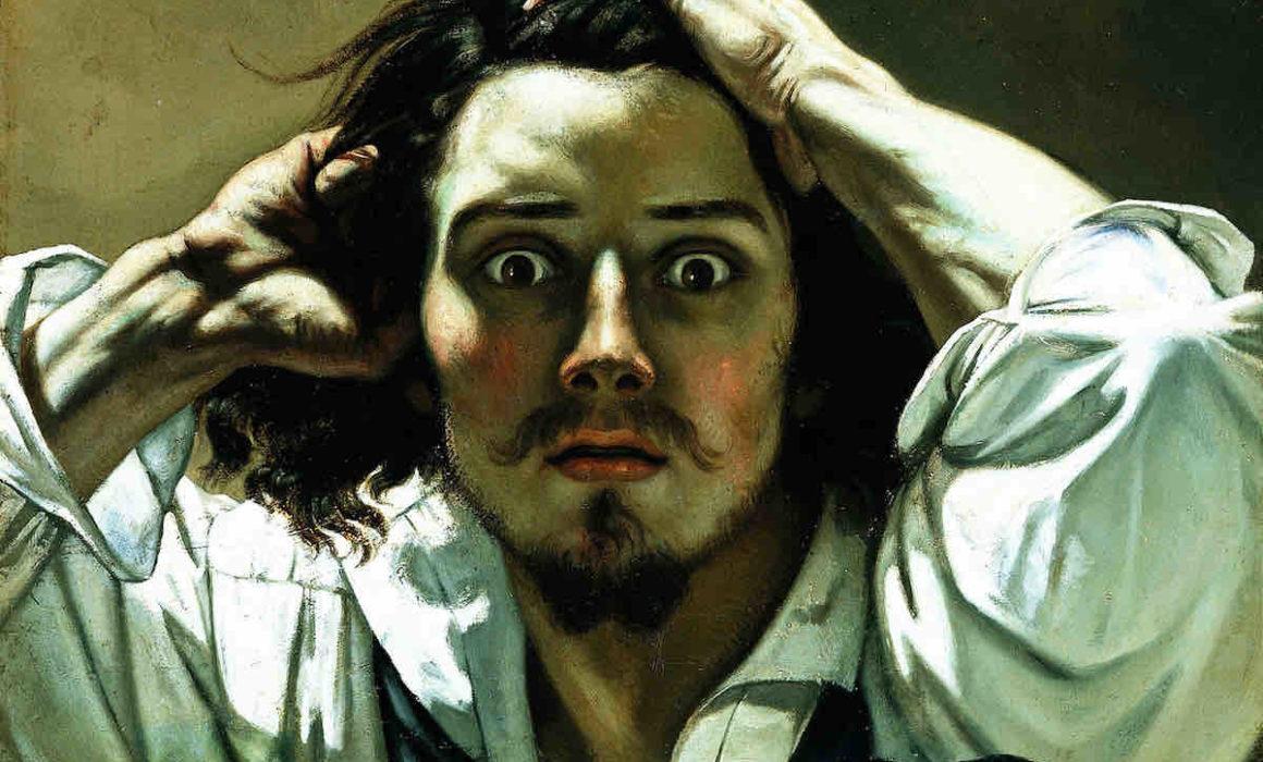 Selbstporträt von Gustave Courbet