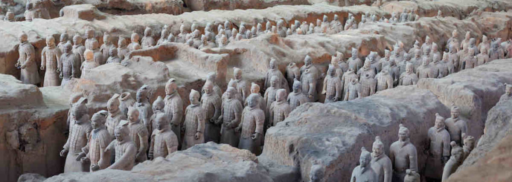 Ausgrabungsstätte der Terrakotta-Armee
