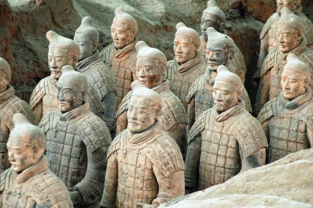 Nahaufnahme der Terrakotta-Krieger
