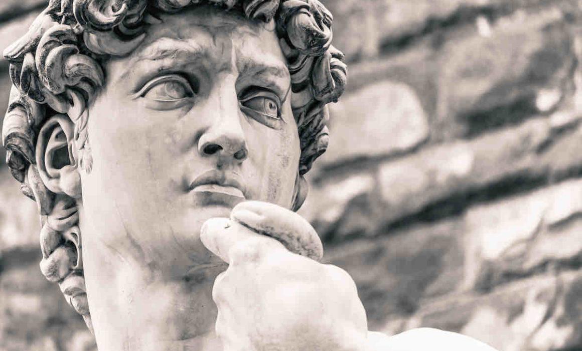 Nahansicht der David-Statue von Michelangelo