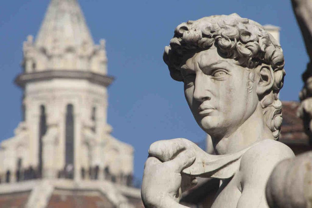 Kopfansicht der David-Statue