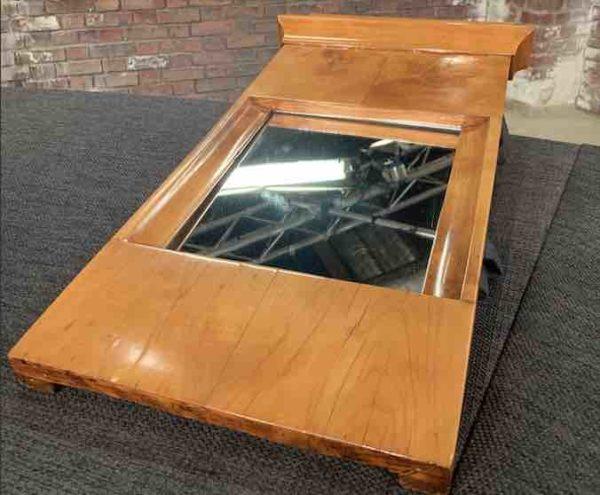 Kleiner Biedermeier Spiegel aus Holz