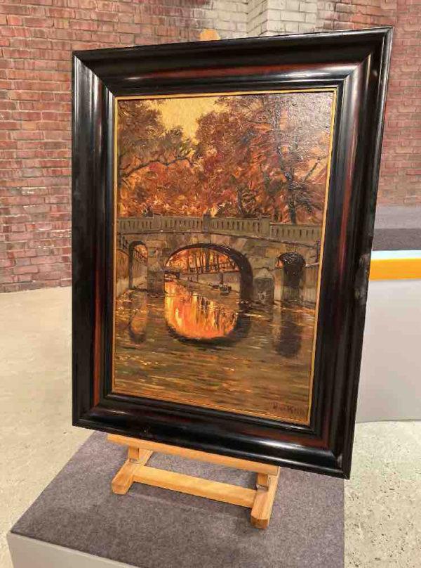 Gemälde mit Brücke von Max Koch