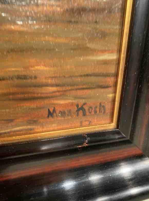 Signatur des Gemäldes von Max Koch