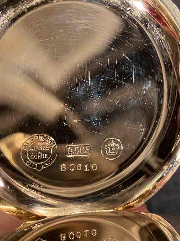 Goldpunze der A. Lange & Söhne Taschenuhr