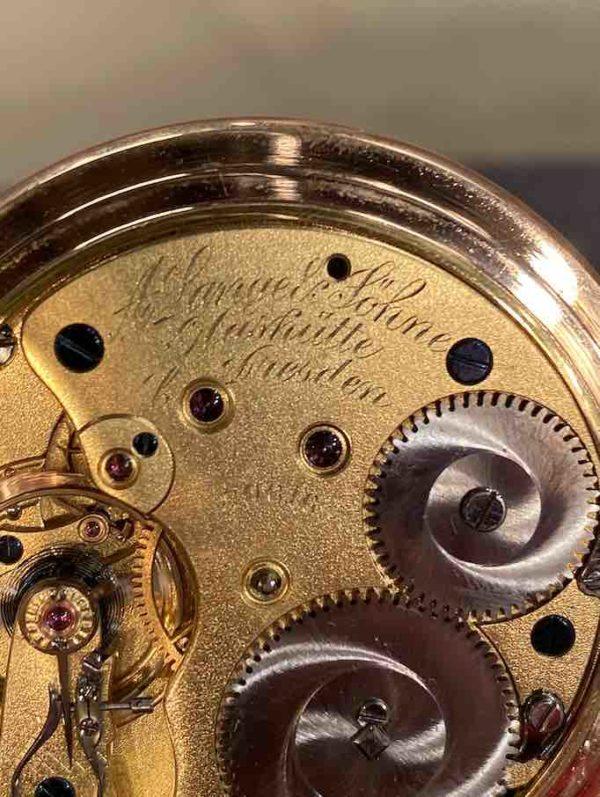Rückseite der A. Lange & Söhne Taschenuhr