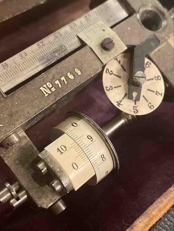 Nahaufnahme des Polarplanometers