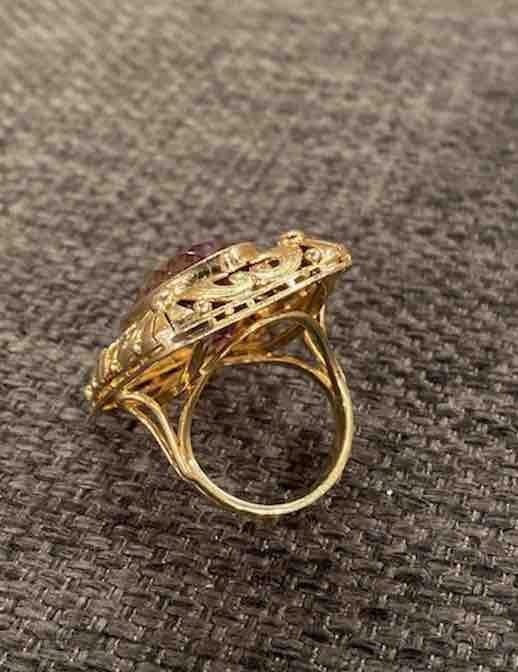 Goldener Ring mit Amethyst