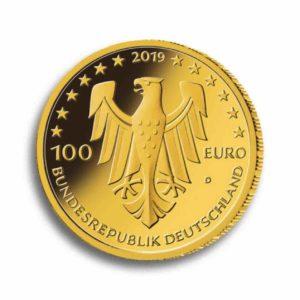 100 Euro Gold Vorderseite