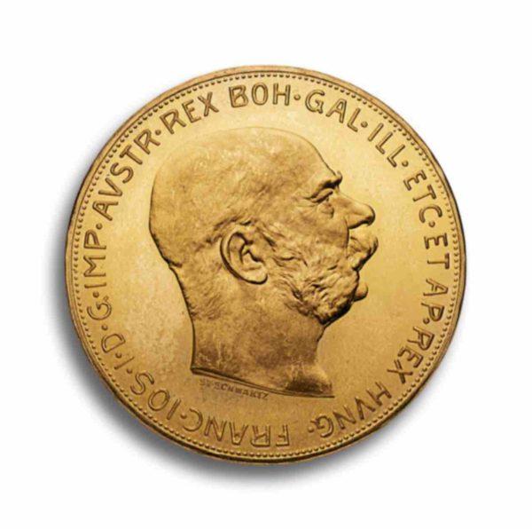100 Kronen Gold Oesterreich Rueckseite