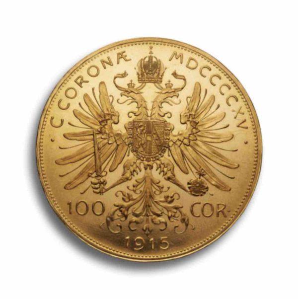 100 Kronen Gold Oesterreich Vorderseite
