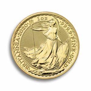 100 Pfund Britannia Gold 1 Unze Rueckseite