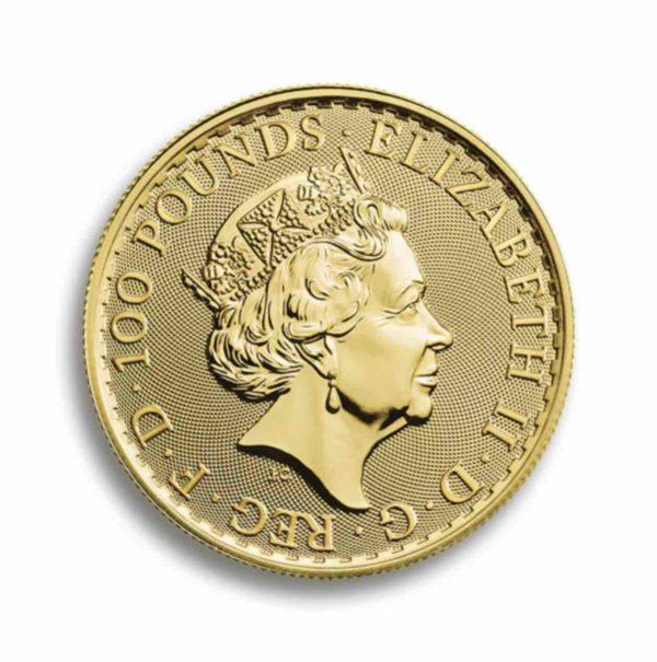100 Pfund Britannia Gold 1 Unze Vorderseite