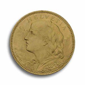 10 Franken Gold Vreneli Rueckseite