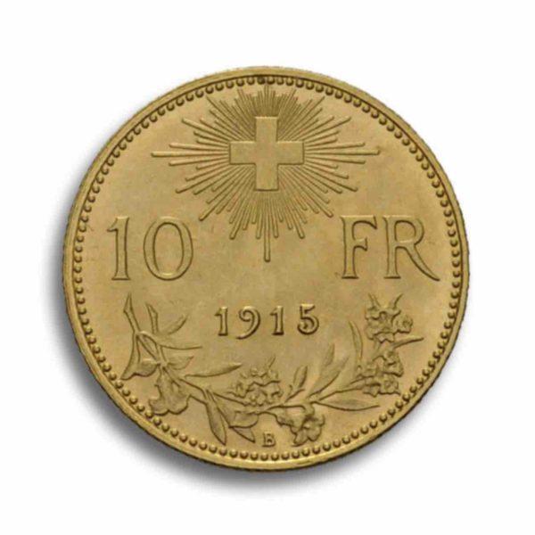 10 Franken Gold Vreneli Vorderseite