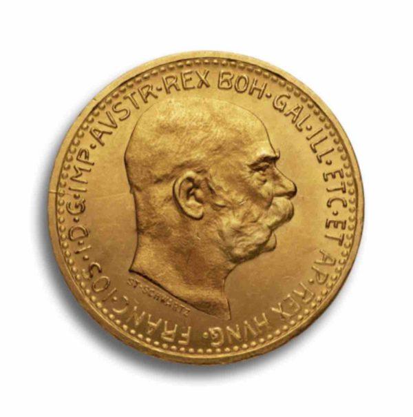 10 Kronen Gold Oesterreich Rueckseite
