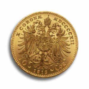 10 Kronen Gold Oesterreich Vorderseite