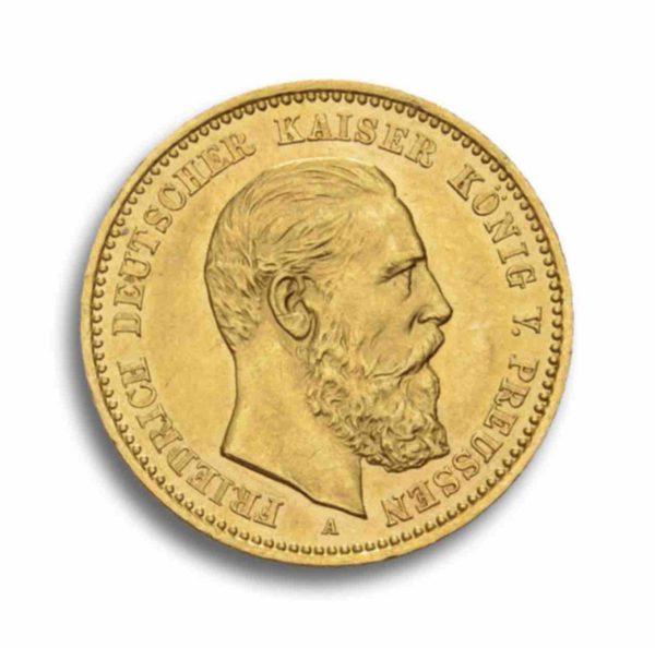 10 Mark Kaiserreich Gold Rueckseite