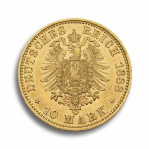 10 Mark Kaiserreich Gold Vorderseite