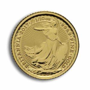 10 Pfund Britannia Gold 1/10 Unze Rueckseite