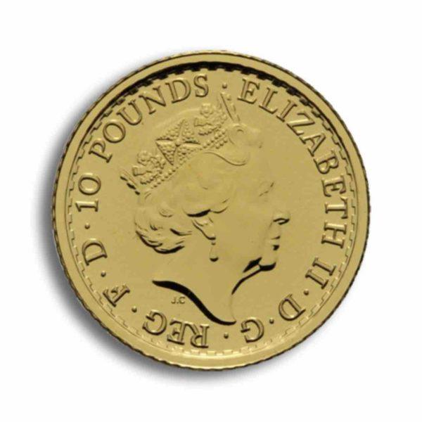 10 Pfund Britannia Gold 1/10 Unze Vorderseite