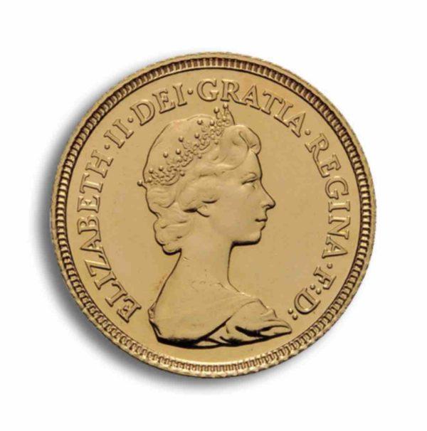 1/2 Sovereign Gold GB Vorderseite