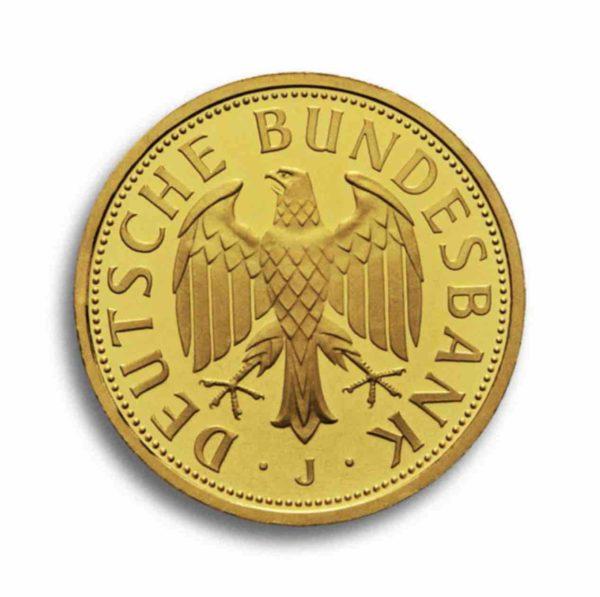 1 DM 2001 Goldmark Rueckseite