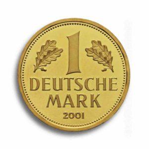 1 DM 2001 Goldmark Vorderseite