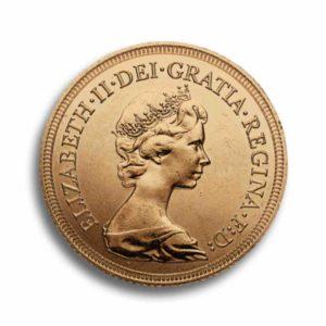 1 Sovereign Gold GB Vorderseite