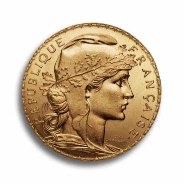 20 Francs Frankreich Marianne Rueckseite