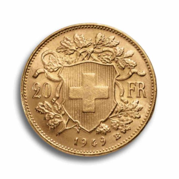 20 Franken Gold Vreneli Vorderseite
