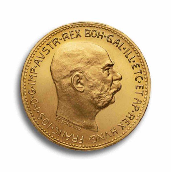 20 Kronen Gold Oesterreich Rueckseite