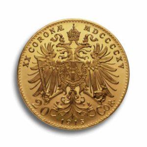 20 Kronen Gold Oesterreich Vorderseite