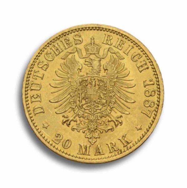 20 Mark Kaiserreich Gold Vorderseite
