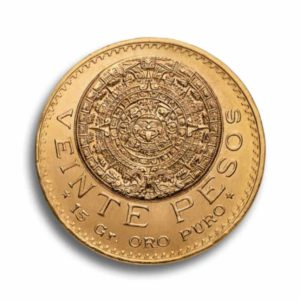 20 Pesos Mexiko Gold Vorderseite