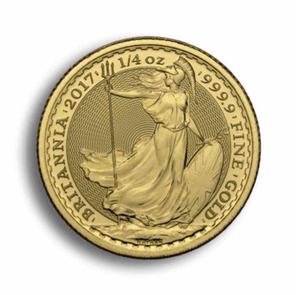 25 Pfund Britannia Gold 1/4 Unze Rueckseite