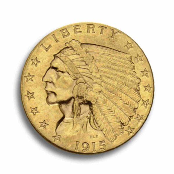 2,5 Dollar Indian Head Rueckseite