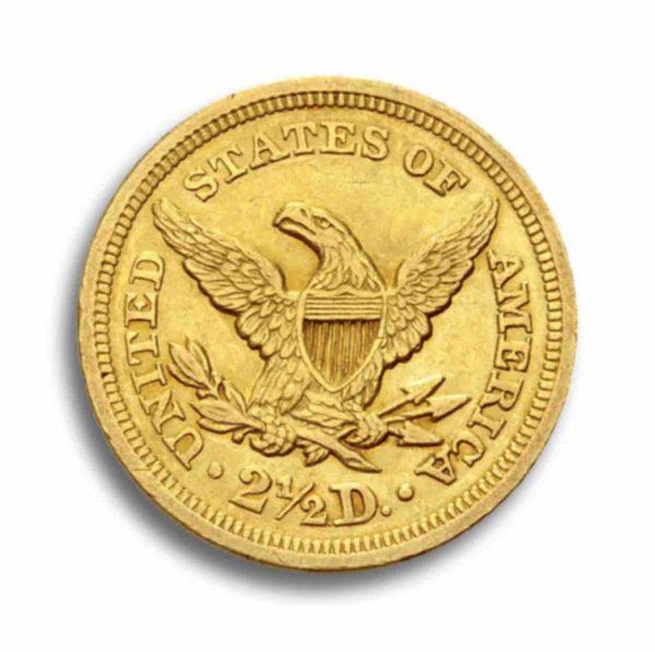 2,5 Dollar Liberty Head Vorderseite
