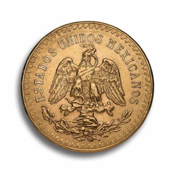 50 Pesos Mexiko Gold Rueckseite