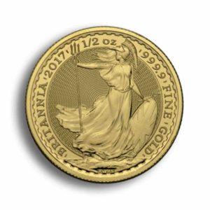50 Pfund Britannia Gold 1/2 Unze Rueckseite