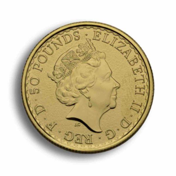 50 Pfund Britannia Gold 1/2 Unze Vorderseite